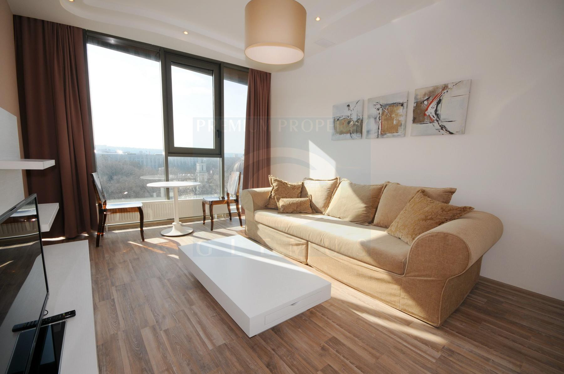 One-bedroom apartment on the high floor with a view on the Cathedral